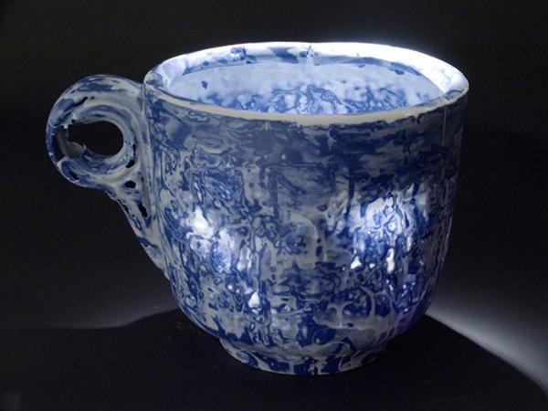 Mostly Blue, 2006, porcelain