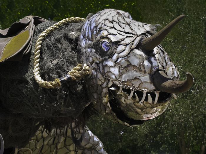 art cars - dinosaur