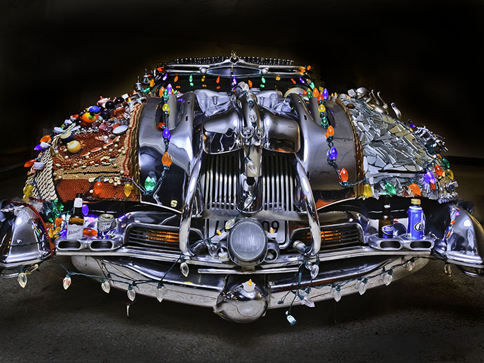 art cars - xmas lights